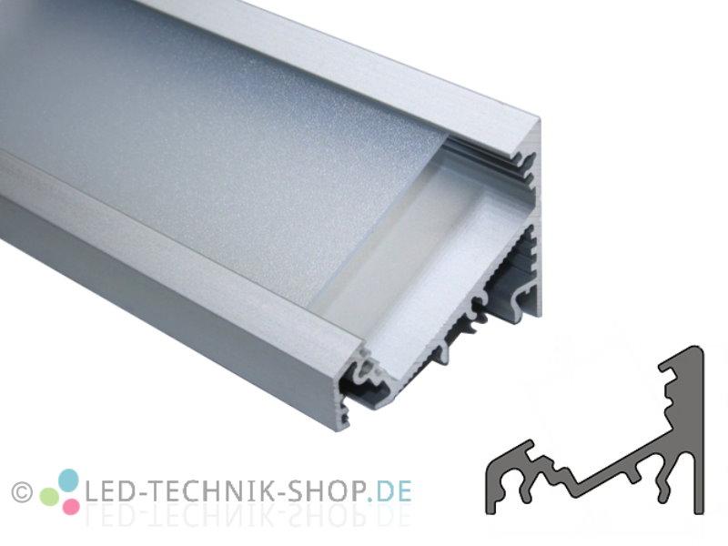aluminium led profil lts 35 alu eloxiert gro inkl abdeckung f r led strip ebay. Black Bedroom Furniture Sets. Home Design Ideas
