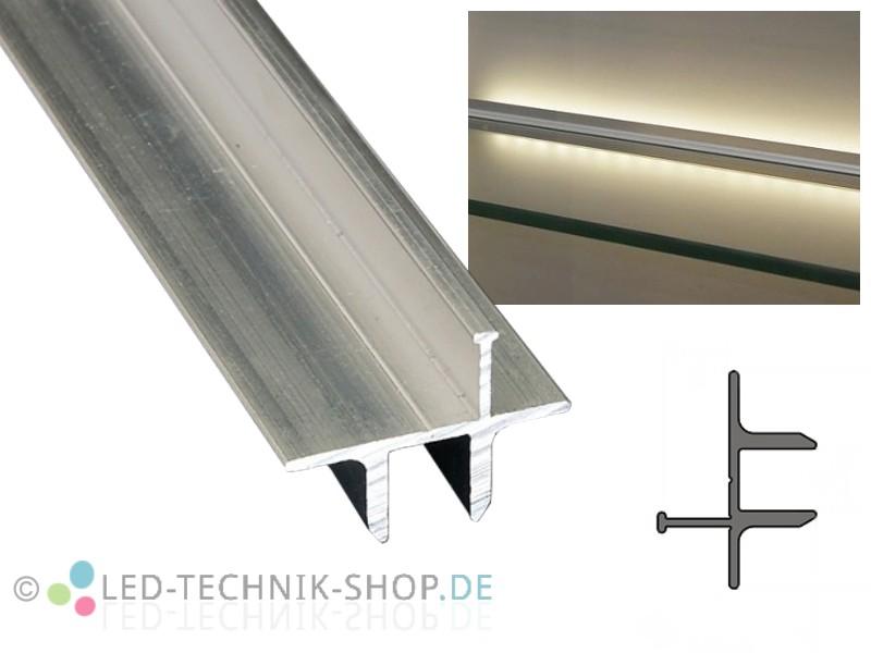 aluminium profil lts 25 alu vitrinenbeleuchtung. Black Bedroom Furniture Sets. Home Design Ideas