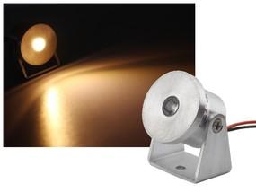 Alu Mini LED Aufbau Strahler 1W warmweiss dimmbar