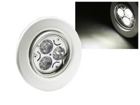 LED Einbaustrahler Downlight weiss 230V schwenkbar 3W weiss