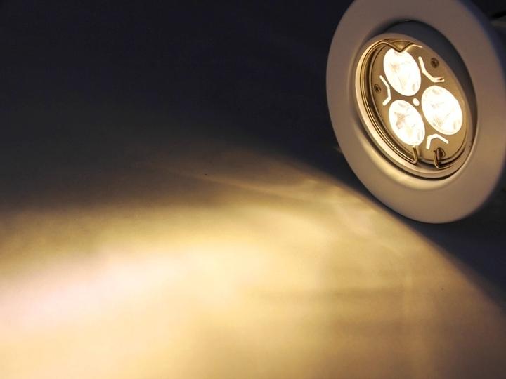 LED Einbaustrahler Downlight weiss 230V schwenkbar 3W warmweiss  Deckeneinbauleuchten ...