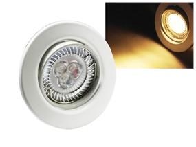 LED Einbaustrahler Downlight weiss 230V schwenkbar 6W warmweiss