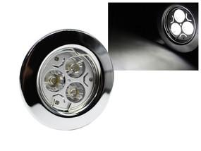 LED Einbaustrahler Downlight chrom 230V starr 3W weiss