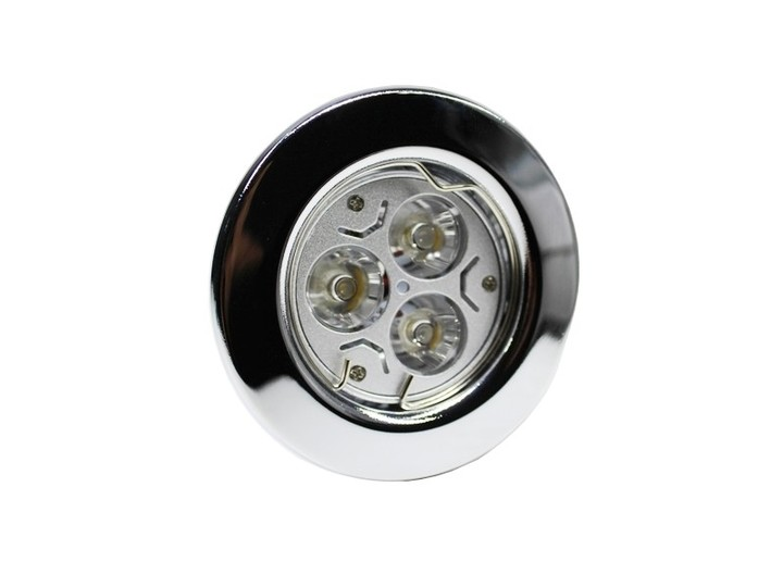 led einbaustrahler downlight chrom 230v starr 3w weiss deckeneinbauleuchten innenleuchten. Black Bedroom Furniture Sets. Home Design Ideas