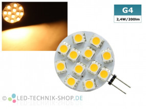 LED G4 Stiftsockel 2,4W 200lm warmweiss