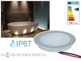 LED Einbauleuchte Slim rund 12V 0,9W warmweiss