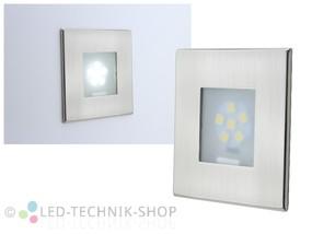 LED Wandeinbauleuchte 12V 1W kaltweiss