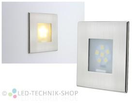 LED Wandeinbauleuchte 12V 1W warmweiss