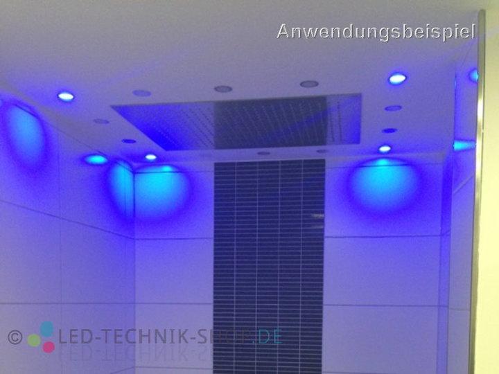 led einbauleuchte slim ip67 blau wandeinbauleuchten innenleuchten led technik shop. Black Bedroom Furniture Sets. Home Design Ideas