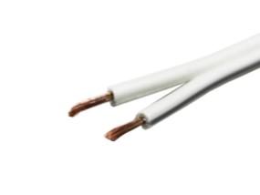 Kabel Zwillingslitze weiss 2x0,75mm²