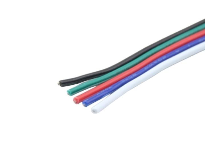 Kabel Litze RGBW flach 5x0,5mm² | Kabel & Litze | LED Zubehör | LED ...