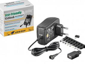Eco Friendly Netzteil 3-12V 1500mA 18W