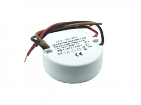 LED Trafo 12V mini rund 12W