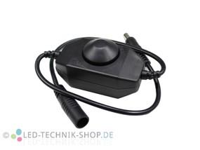 Inline LED Dimmer schwarz 12-24V