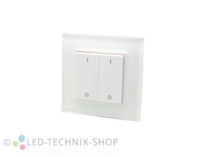 led funk dimmer wandtaster 2 kanal led dimmer led steuerungen led technik shop. Black Bedroom Furniture Sets. Home Design Ideas