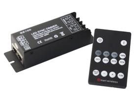 LED Funk Dimmer + Slim Fernbedienung 12V 24V 25A 300W