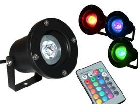 3W RGB LED Gartenstrahler Anbaustrahler