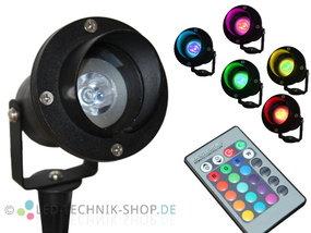 LED Gartenstrahler Alu IP68 RGB