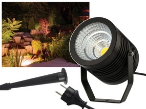 Profi COB LED 10W IP67 Gartenstrahler warmweiss