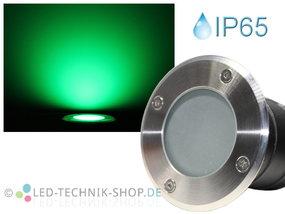 LED Bodeneinbaustrahler IP65 grün