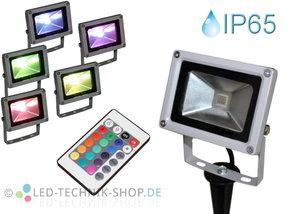 LED Fluter 10W RGB mit Erdspieß
