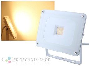 30W Glas Design LED Fluter Slim warmweiss