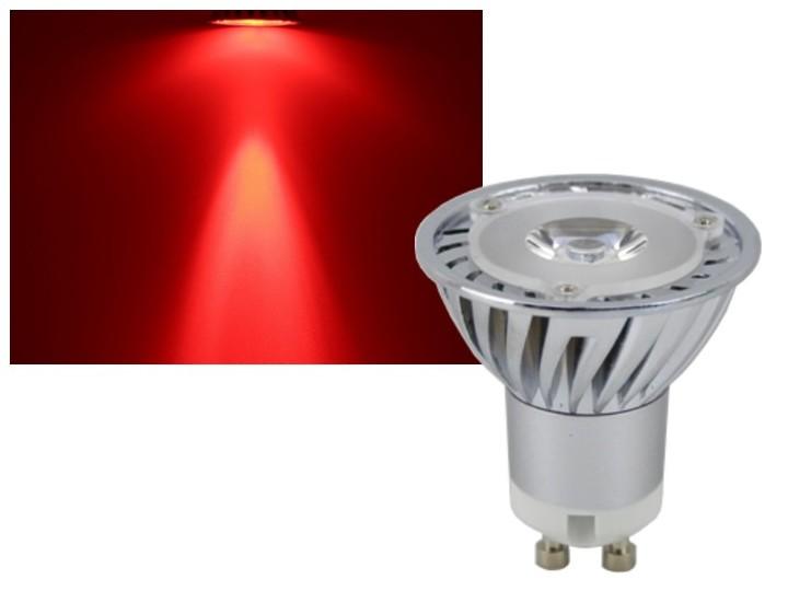 led strahler gu10 rot 3w gu10 led leuchtmittel led technik shop. Black Bedroom Furniture Sets. Home Design Ideas
