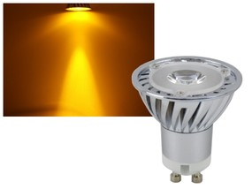 LED Strahler GU10 gelb orange 3W