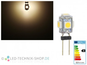 LED G4 5 SMD 1W warmweiss
