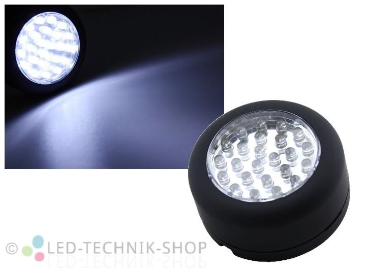 led magnet arbeitsleuchte mit 24 led arbeitsleuchten taschenlampen innenleuchten led. Black Bedroom Furniture Sets. Home Design Ideas