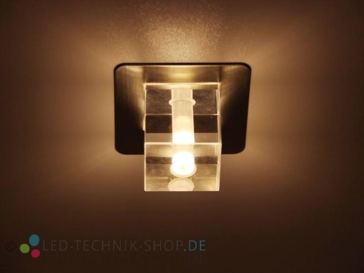LED Glas Design Einbauleuchte 12V 1,5W  Deckeneinbauleuchten  Innenleuchten  LED-TECHNIK-SHOP