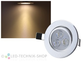 LED Downlight 3W 270 Lumen wamweiss