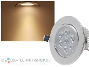 LED Downlight 7W 600 Lumen wamweiss