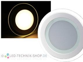 LED Glas Design Downlight 12W warmweiss