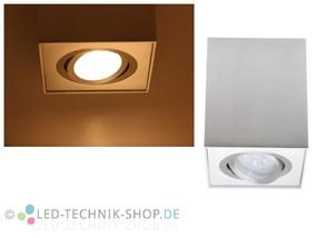 LED Design Lampe eckig 6W warmweiss dimmbar