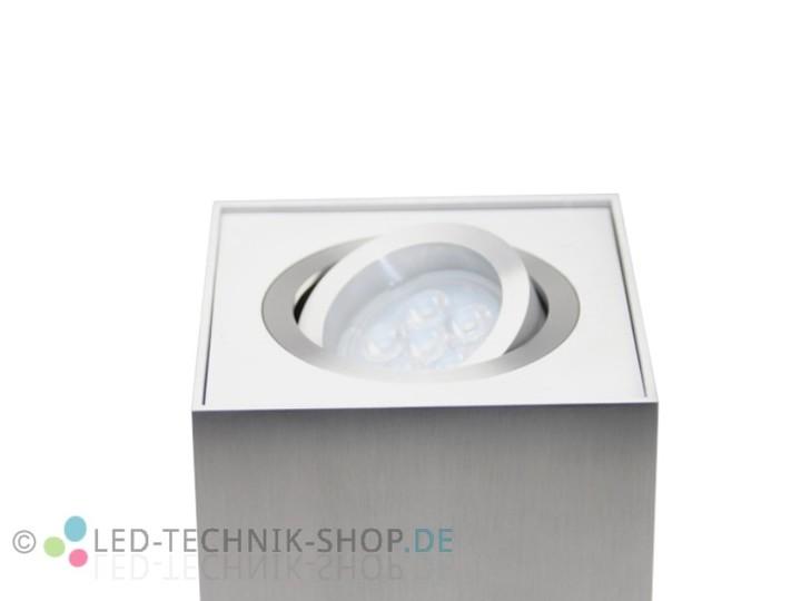 Led design lampe eckig 6w warmweiss dimmbar for Led deckenaufbauleuchten