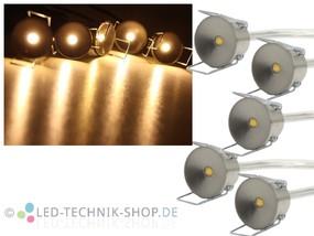 5er LED Sternenhimmel Set Power Spots warmweiss