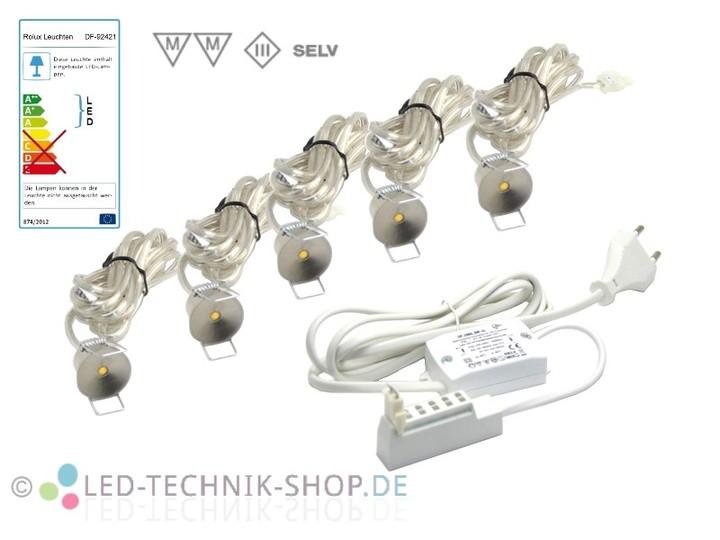 5er led sternenhimmel set power spots warmweiss exklusiv led sternenhimmel led technik shop. Black Bedroom Furniture Sets. Home Design Ideas