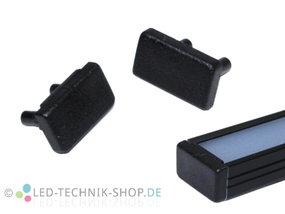 Endkappen für Alu LED Profil LTS-10 Black