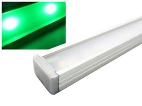 Alu LED Leiste Slim grün